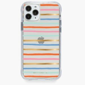 RIFLE PAPER CO. CLEAR HAPPY STRIPES IPHONE…
